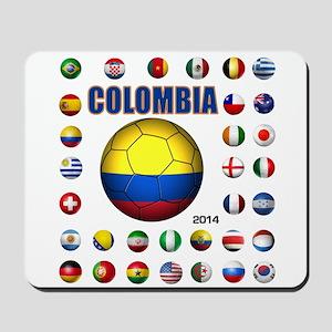 Colombia futbol soccer Mousepad