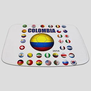 Colombia futbol soccer Bathmat