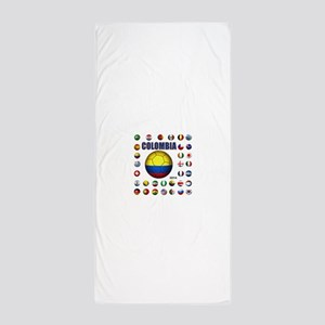 Colombia futbol soccer Beach Towel
