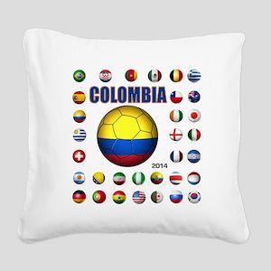 Colombia futbol soccer Square Canvas Pillow