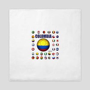 Colombia futbol soccer Queen Duvet