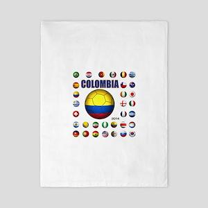 Colombia futbol soccer Twin Duvet