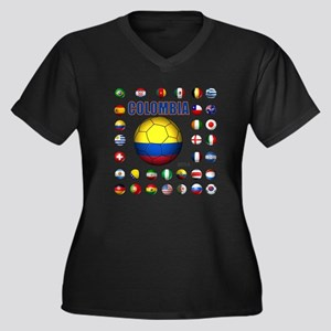 Colombia futbol soccer Plus Size T-Shirt