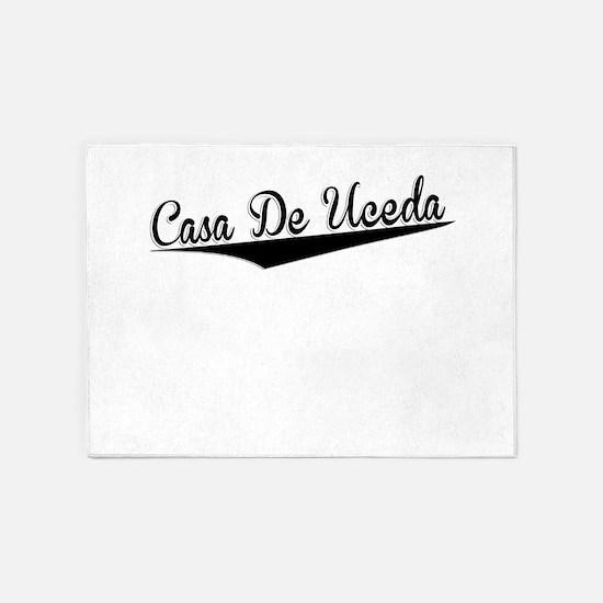 Casa De Uceda, Retro, 5'x7'Area Rug