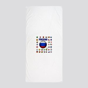 Rossiya futbol soccer Beach Towel