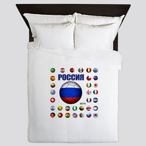 Rossiya futbol soccer Queen Duvet