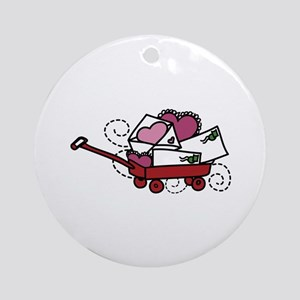Love Letters In Wagon Ornament (Round)