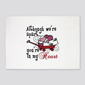 Youre In My Heart 5'x7'Area Rug