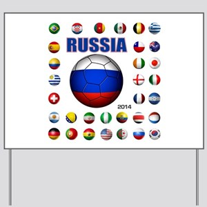 Russia soccer Yard Sign