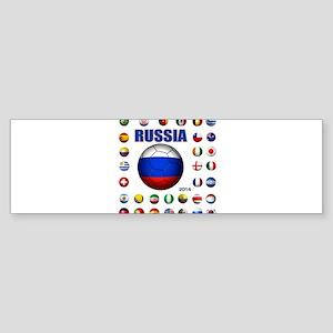 Russia soccer Bumper Sticker