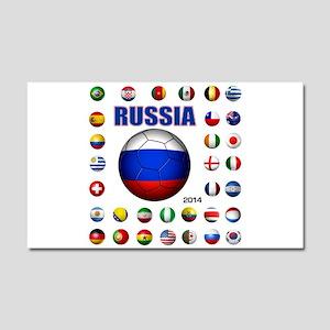 Russia soccer Car Magnet 20 x 12