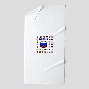Russia soccer Beach Towel