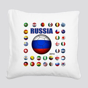 Russia soccer Square Canvas Pillow