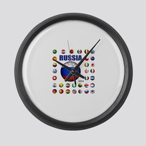 Russia soccer Large Wall Clock
