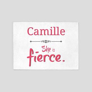 Camille is fierce 5'x7'Area Rug