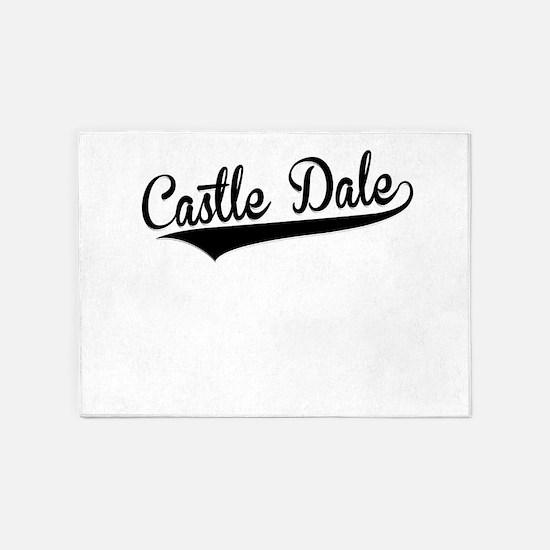 Castle Dale, Retro, 5'x7'Area Rug