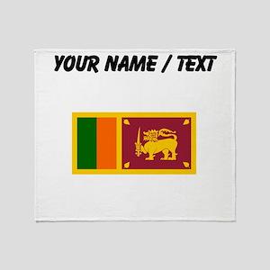 Custom Sri Lanka Flag Throw Blanket