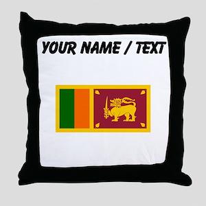 Custom Sri Lanka Flag Throw Pillow