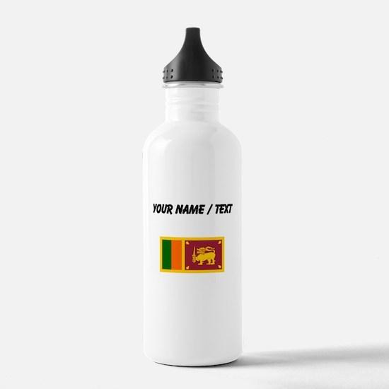 Custom Sri Lanka Flag Water Bottle