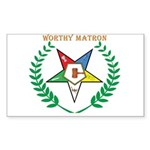OES Worthy Matron Rectangle Sticker