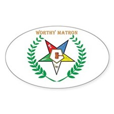 OES Worthy Matron Oval Sticker