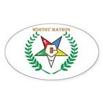 OES Worthy Matron Oval Sticker
