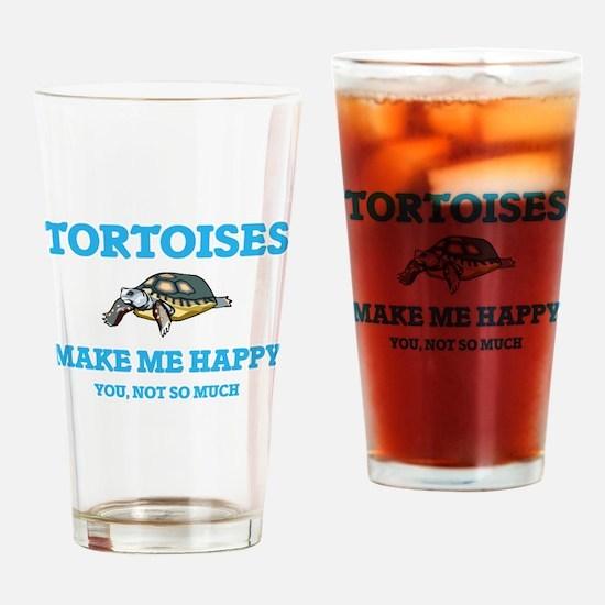Tortoises Make Me Happy Drinking Glass