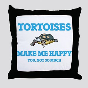 Tortoises Make Me Happy Throw Pillow