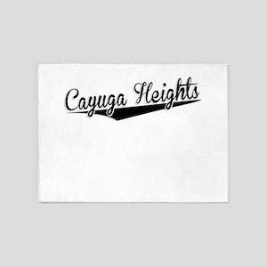 Cayuga Heights, Retro, 5'x7'Area Rug