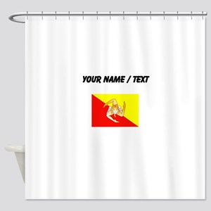 Custom Sicily Flag Shower Curtain