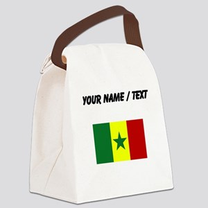 Custom Senegal Flag Canvas Lunch Bag