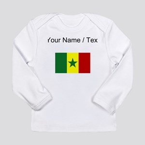 Custom Senegal Flag Long Sleeve T-Shirt