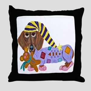 Dachshund Bedtime Throw Pillow
