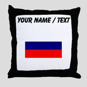 Custom Russia Flag Throw Pillow