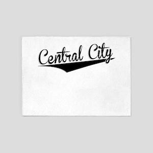 Central City, Retro, 5'x7'Area Rug