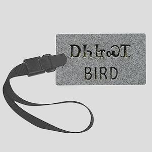 I Am Bird Clan Large Luggage Tag