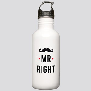Mr right mustache Water Bottle