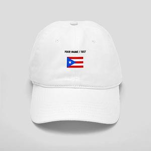 Custom Puerto Rico Flag Baseball Cap