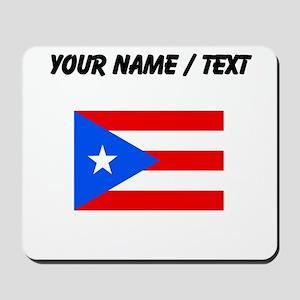 Custom Puerto Rico Flag Mousepad