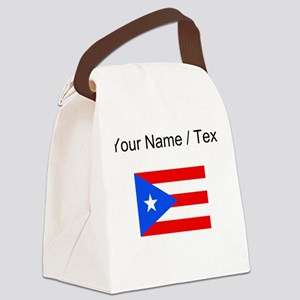 Custom Puerto Rico Flag Canvas Lunch Bag