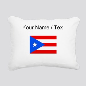 Custom Puerto Rico Flag Rectangular Canvas Pillow