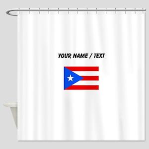 Custom Puerto Rico Flag Shower Curtain