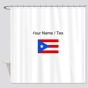 Custom Puerto Rico Flag Shower Curtain