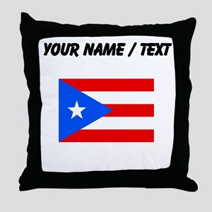 Custom Puerto Rico Flag Throw Pillow