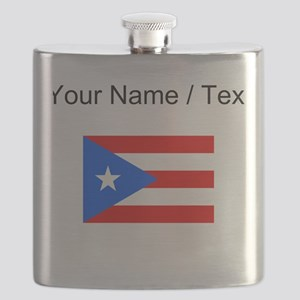 Custom Puerto Rico Flag Flask
