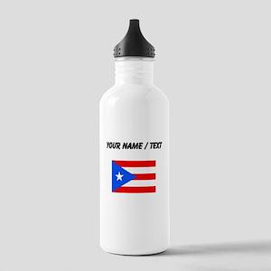 Custom Puerto Rico Flag Water Bottle