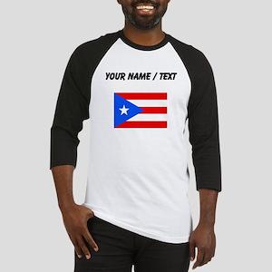 Custom Puerto Rico Flag Baseball Jersey