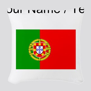 Custom Portugal Flag Woven Throw Pillow