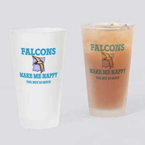 Falcons Make Me Happy Drinking Glass