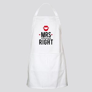 Mrs always right red lips Apron